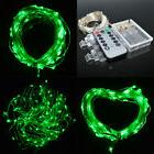10M 100LED Green Battery Operated Portable Xmas LED String L