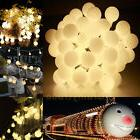 10M Indoor/Outdoor String Lights Powered 100 LED Globe Strin