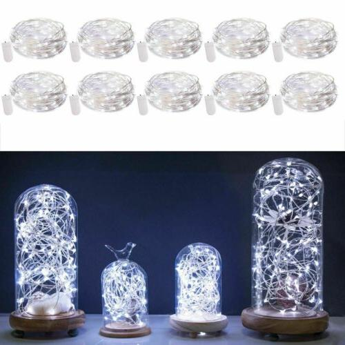 10x 2M Waterproof LED Copper Wire String Lights