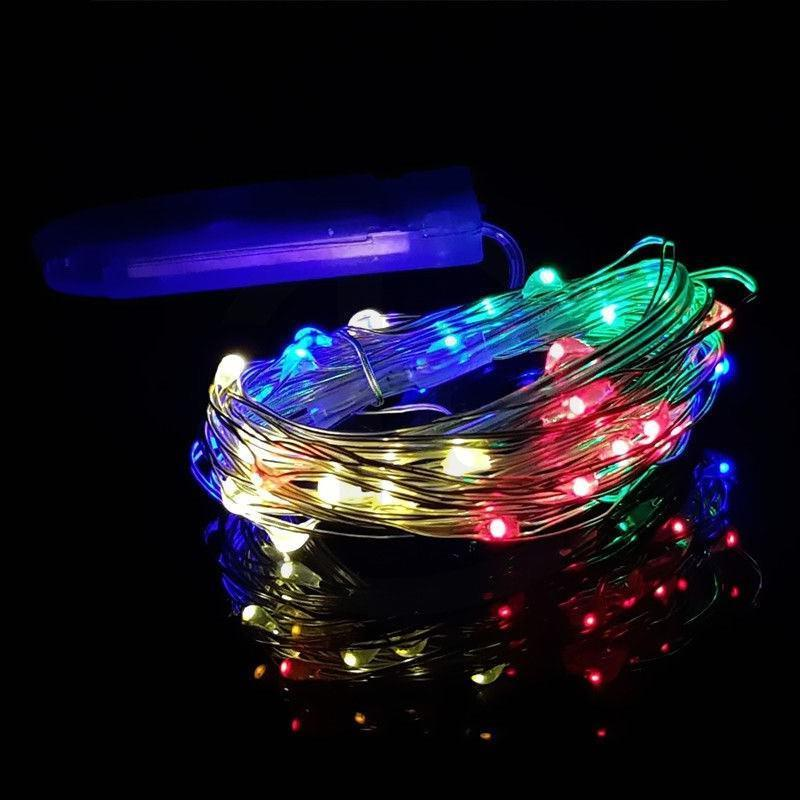 6x Waterproof LED MICRO Silver String Fairy US