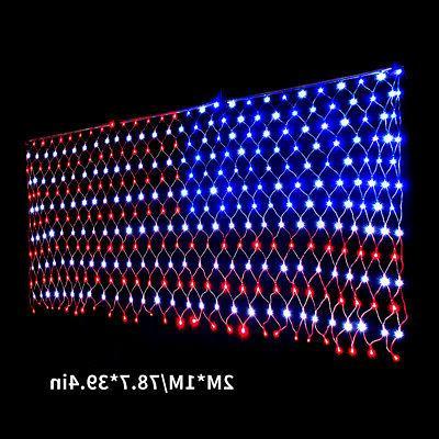 110V LED Flag Lights Indoor/ American Decoration Festival 2X1M