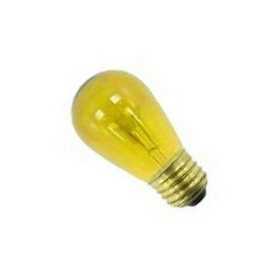 SIVAL 11W S14 130V  E27 BASE TRANSPARENT YELLOW INCAND PATIO