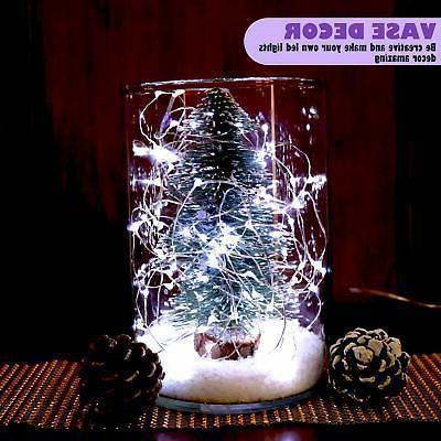 12-Pack Fairy String Lights Timer 20 Lights on 6.5ft Silver...