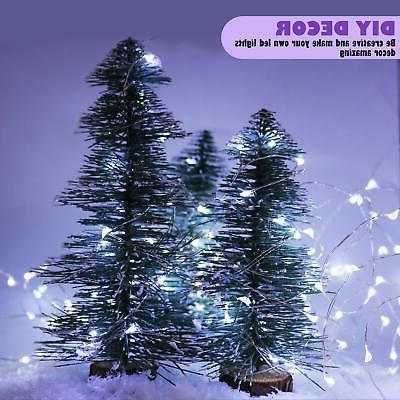 12-Pack 8 Modes Fairy String Lights Timer 20 LEDs on 6.5ft Silver...