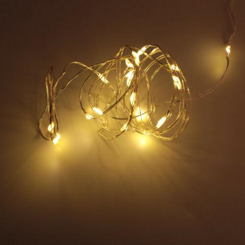 12x 20 LED 2m Waterproof LED Silver Copper Wire Lights Decor