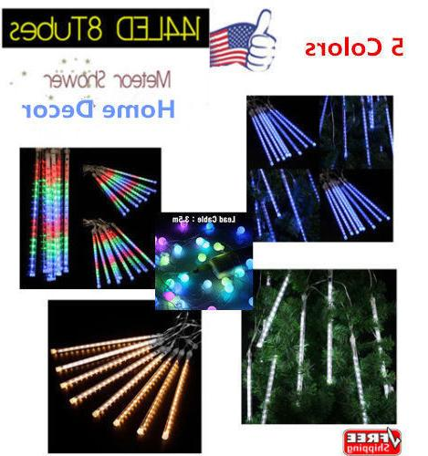 13 1ft 8tube 144led meteor shower rain