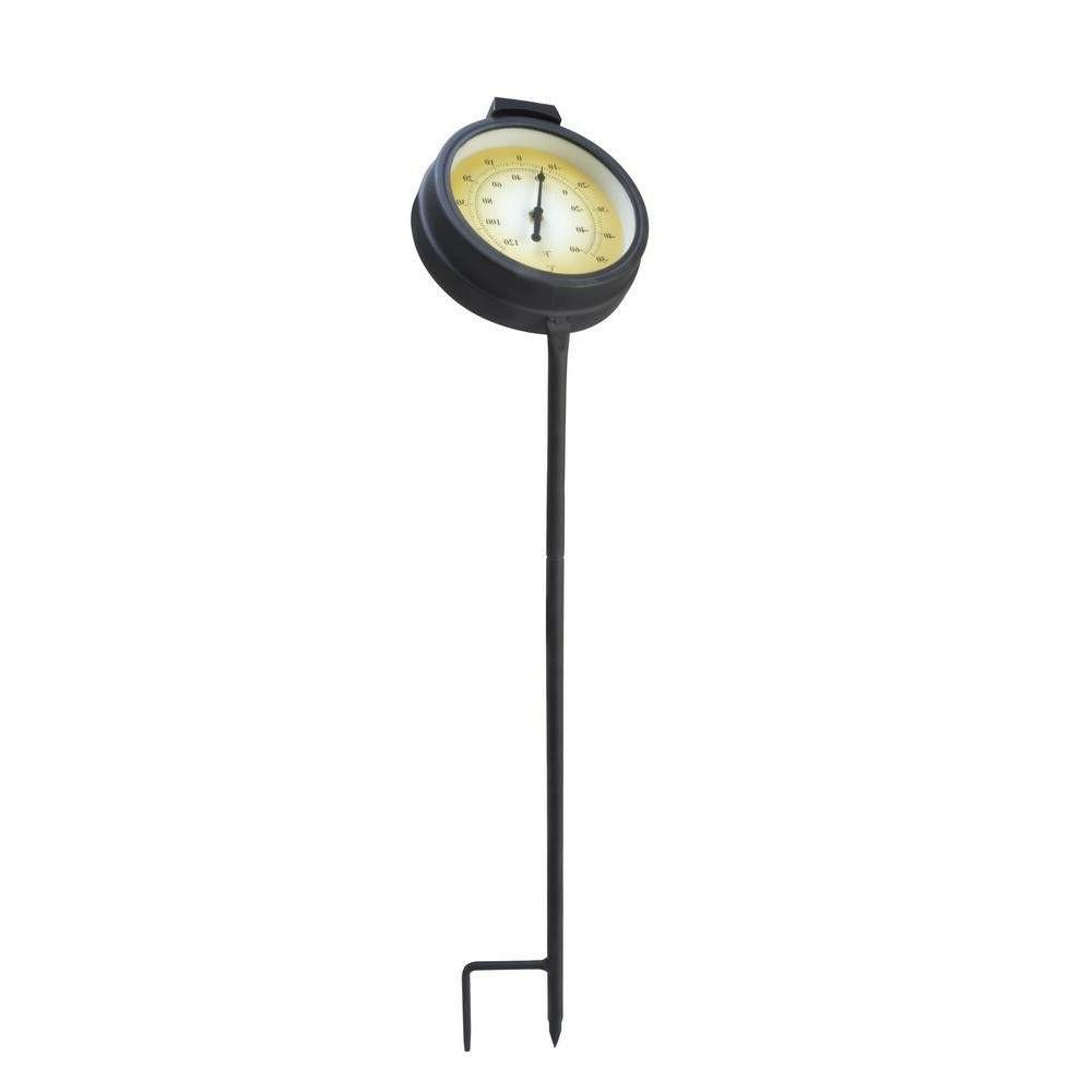 16 in solar integrated led thermometer pathway