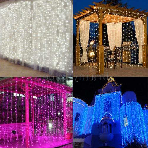 1800 LED Fairy Curtain String light for Xmas Christmas Weddi