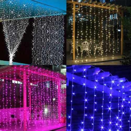 3M/6M 300/600 LED Window Curtain Lights Wedding