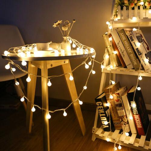 Globe String Lights 40 LED Decorative String Light Outdoor B