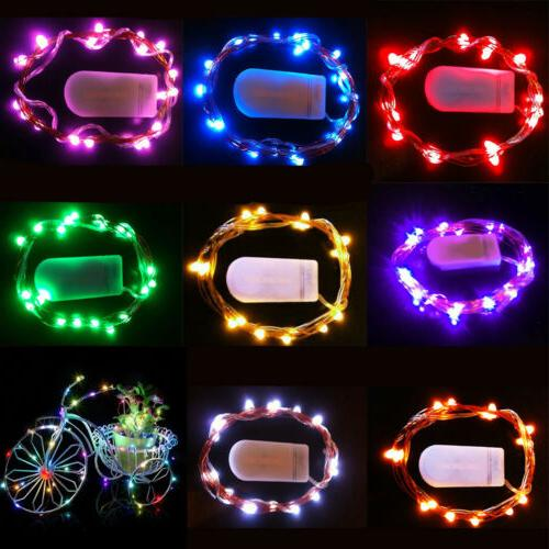 1M 10LEDs Operated Mini Wire String