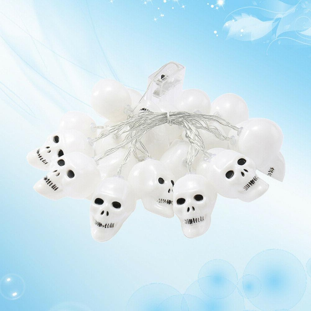 1pc string light skull heads halloween fairy