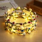1x Luminous LED Flower Garland Bride Headwear Band Crown Wed