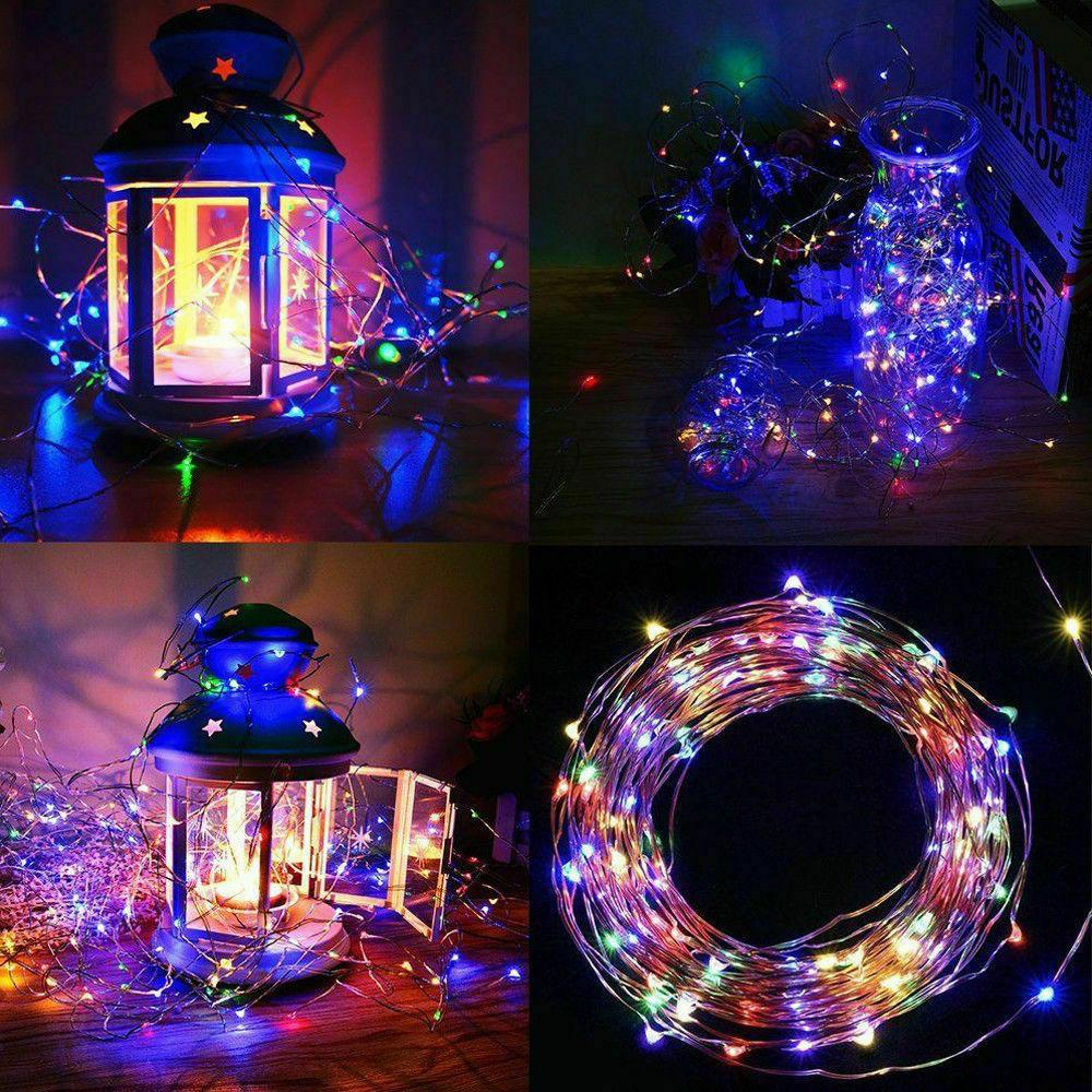 Outdoor String 100 LED Copper Wire Fairy Light Decor White