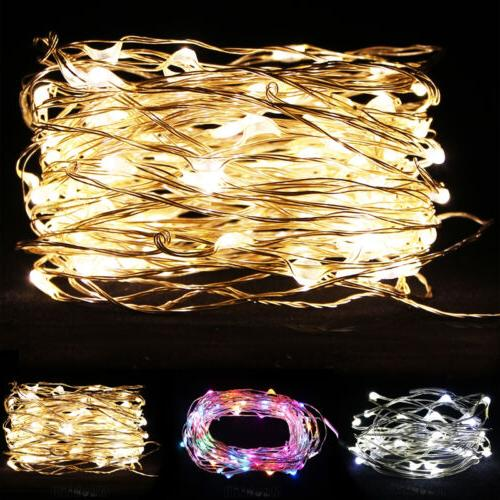 20/30/40/50/100 LED String Copper Wire Fairy Lights Battery