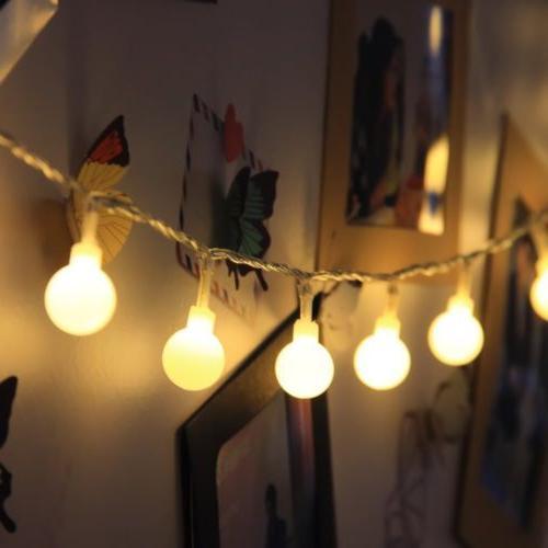 Globe String Lights 40 LED Decorative String Light Outdoor
