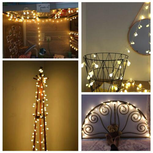 Globe String Lights LED Decorative Light Outdoor Battery Party