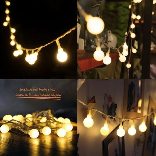 Globe String Lights LED Decorative Light Outdoor Battery Powered Party