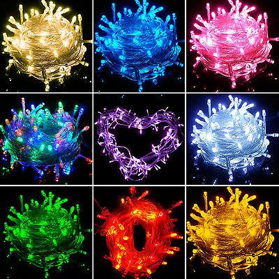 20/30/40/80 LED String Fairy Lights Battery New Year Outdoor