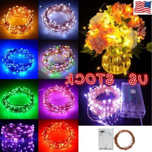 20/50/100 LED String Battery Operated Copper String Wire Fai