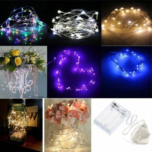 20//50/100 LED String Fairy Lights Copper Wire Battery Power