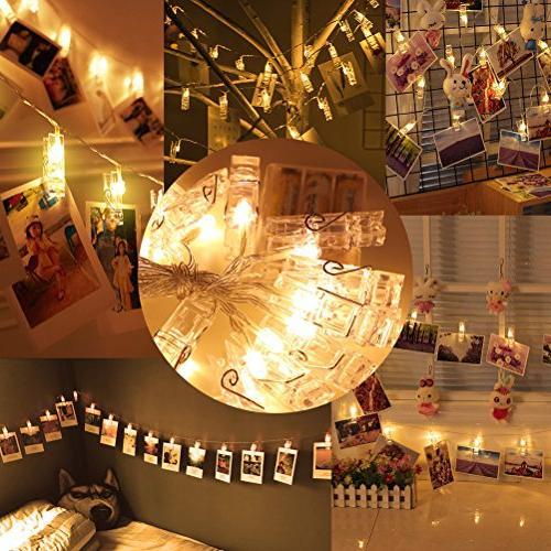 Jamal 20 LED Lights Battery Lights Photos Clips Lights Lights String Bedroom Hanging and Artworks