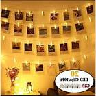 20 Indoor String Lights LED Photo Clip Lights, Battery Power