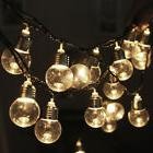 20 Led Warm White Foot Globe Patio Outdoor String Lights - S