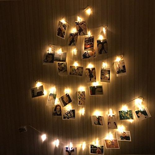 String AOSTAR Battery Operated Fairy String Lights for bedroom Hanging Photos, Cards and