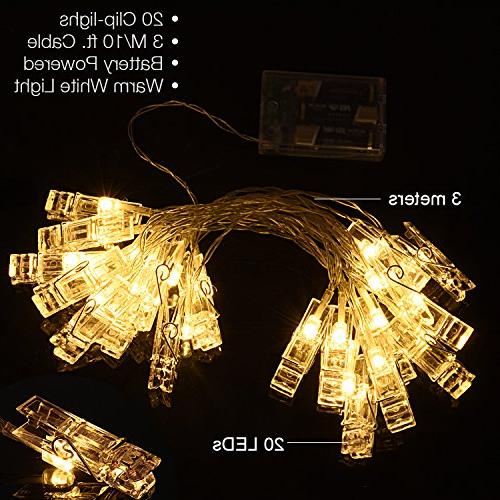 20 LED Operated Fairy String for Photos, Cards Artworks