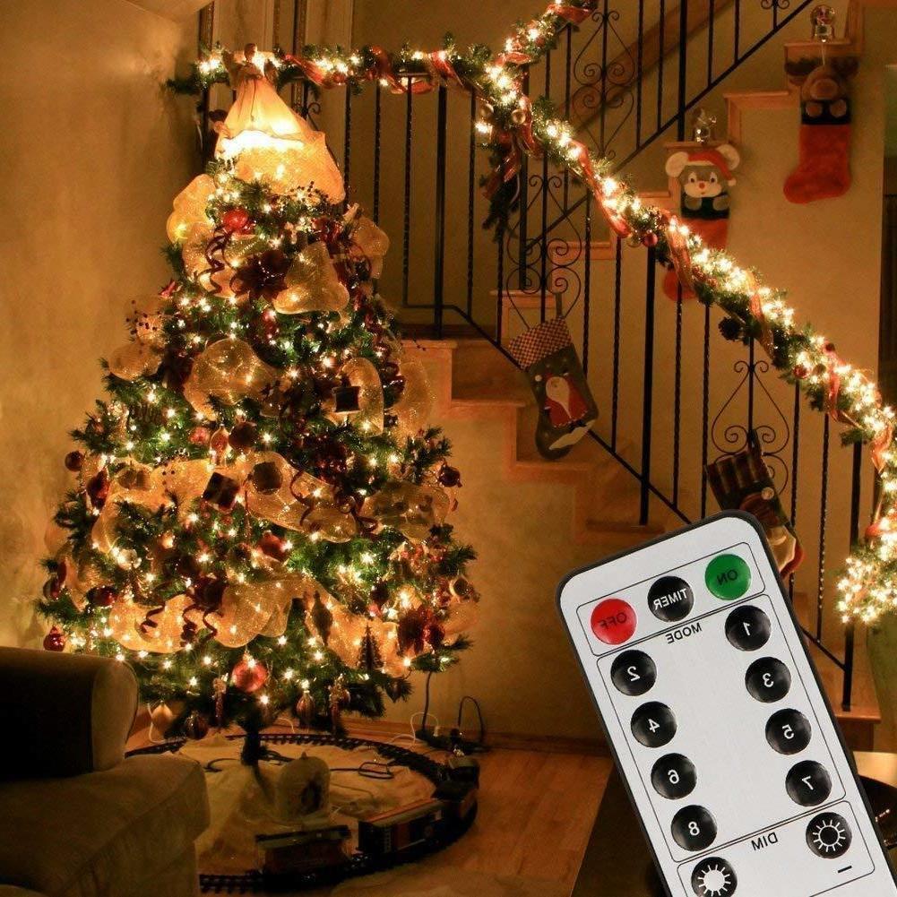 200 LED Indoor String Light  Remote Timer on 69ft Plug Strin
