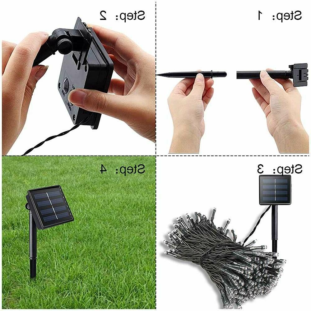100/200 LED Solar Light Party Lamp