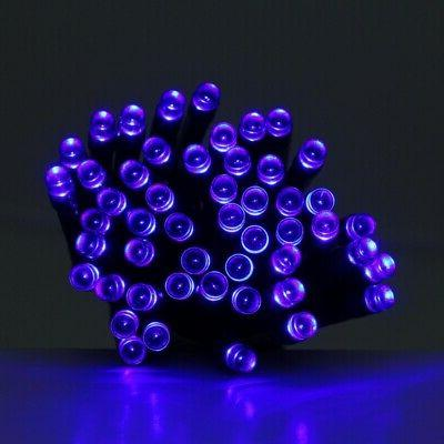 200 led solar powered holiday string lights