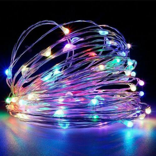 200 LED Copper Wire Solar/USB String Fairy Lights 8 Modes Xm