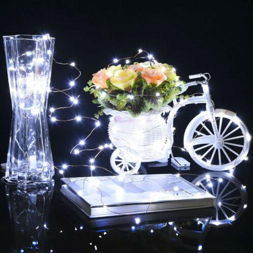 50/100 LED Fairy String Silver Wire Decor