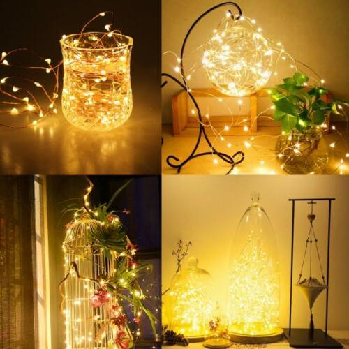 200 Fairy Lights Wire Battery Operated Timer