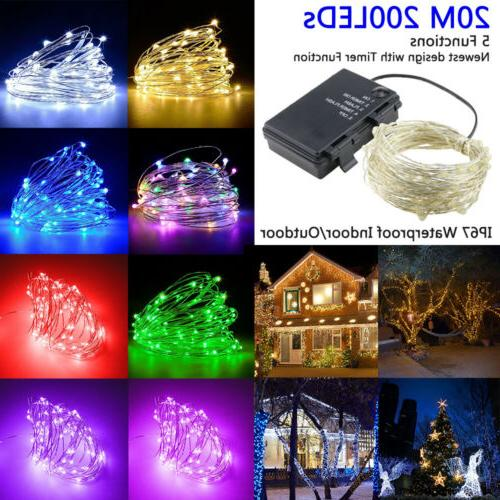 200 led string fairy lights silver wire