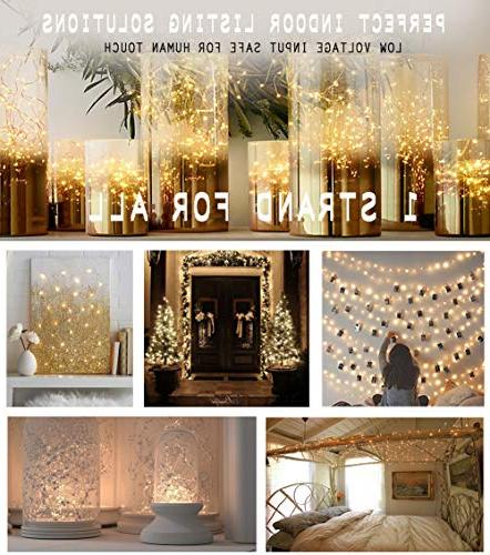 66 Ft Starry Fairy Lights USB Powered Bedroom Outdoor Patio Halloween Thanksgiving Party Wedding Decor