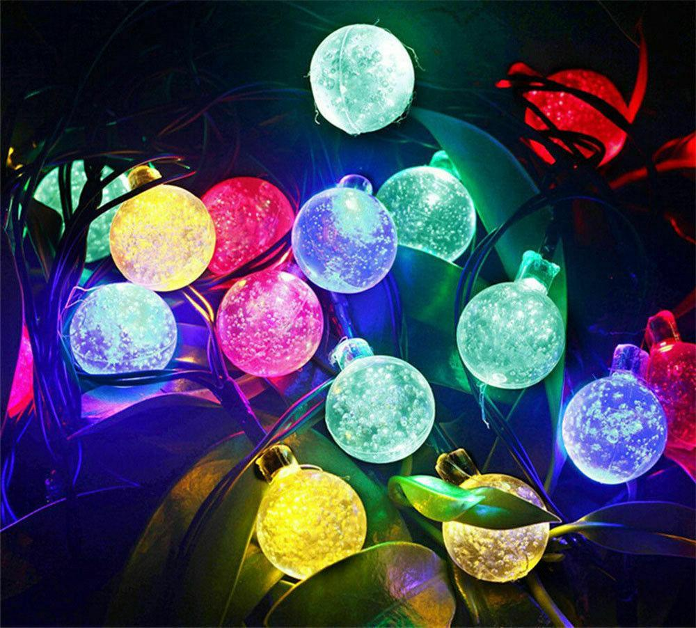 20ft LED Solar String Waterproof Warm Decor