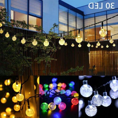 21FT String 30 LED Solar Patio Party Wedding