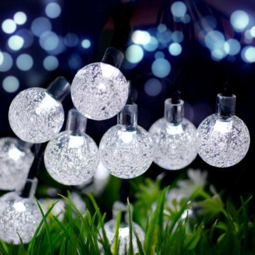 21FT Outdoor Lights 30 LED Solar Bulb Patio Yard Wedding