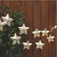 Gerson/Yantian 2262170 Metal Star String Patio Light Set