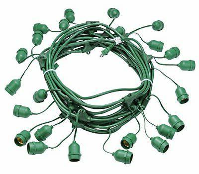 24 suspended socket outdoor string lights a15