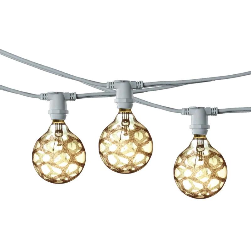 25 ft. White Plug-In String Lights with Fifteen Marble G16 B