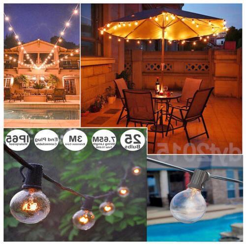 G40 Outdoor String Lights Patio Yard Garden Lighting Waterpr