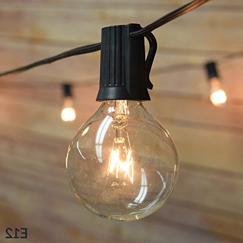 25 socket patio string light