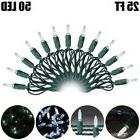 25FT 50 LED Christmas Outdoor String Lights Holiday Decorati