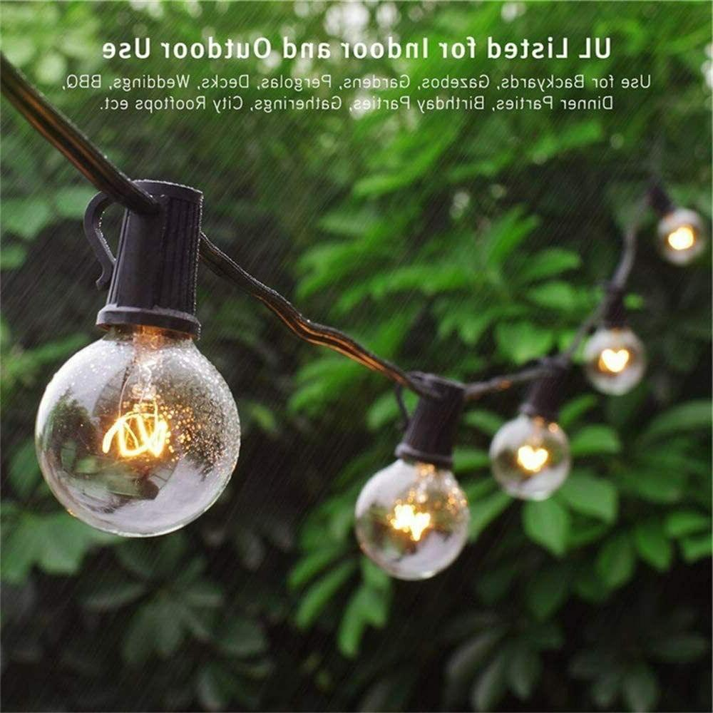25Ft Outdoor String Lights Bulbs Patio Decor