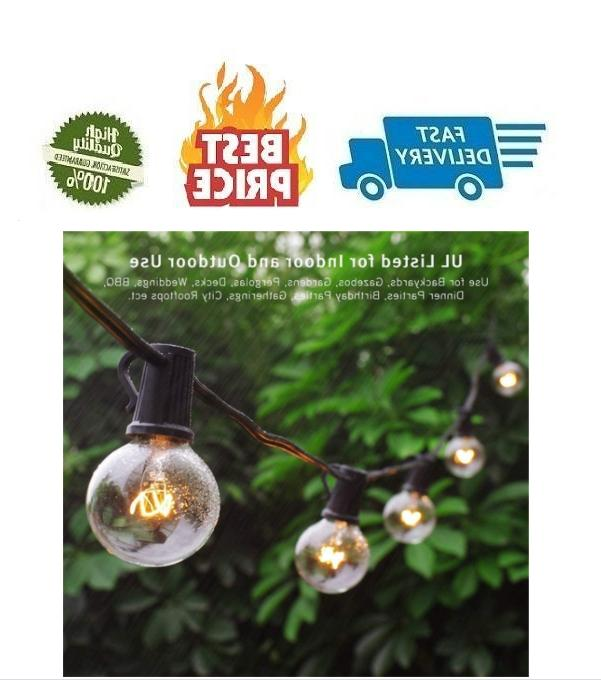 25ft outdoor commercial string lights 27 clear