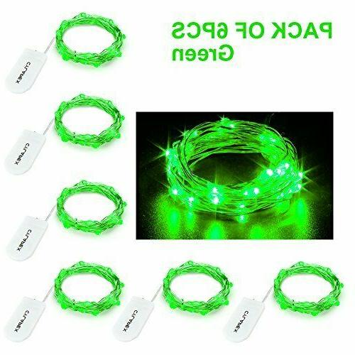 2M 20LEDs Button Operated LED Wire Decor